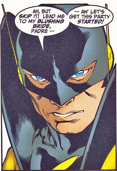 Yellowjacket returns to his own timeline.
