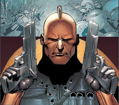 Ares armed with guns
