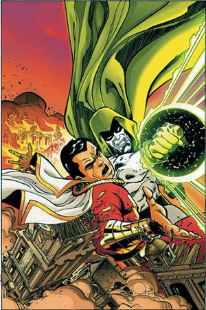 Captain Marvel battles the Spectre