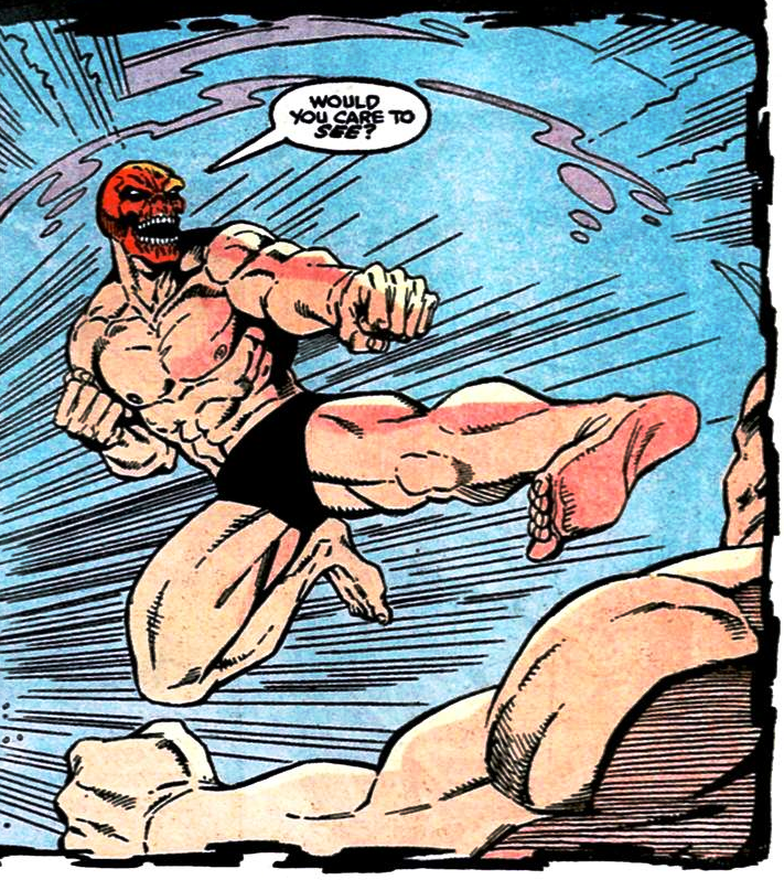 Red Skull is known as one of Marvel's best fighters that closely resembles Captain America.