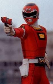 T.J. as the Red Turbo Ranger