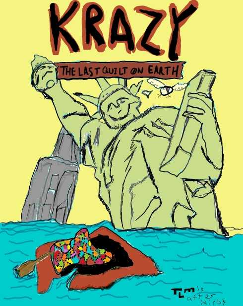 @doomdoomdoom 's Crazy Quilt+ Kamandi = Krazy: The Last Quilt on Earth