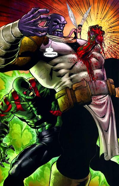 Drax kills Thanos