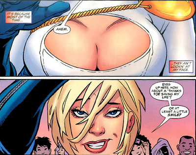 Power-Girl and her chest