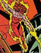 Firebrand using her flame powers