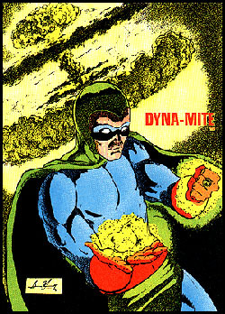 Dyna-Mite reconnects with his powers.