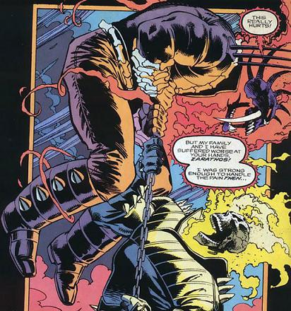 Badilino blames Ghost Rider for his family's death.