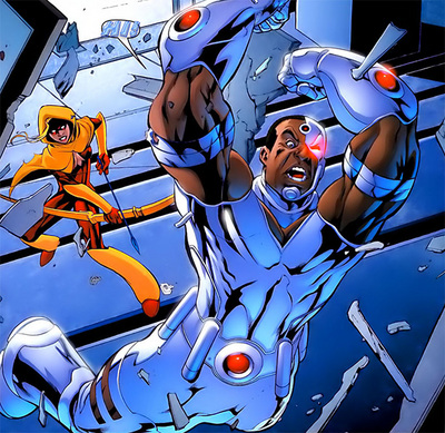 Speedy and Cyborg in action