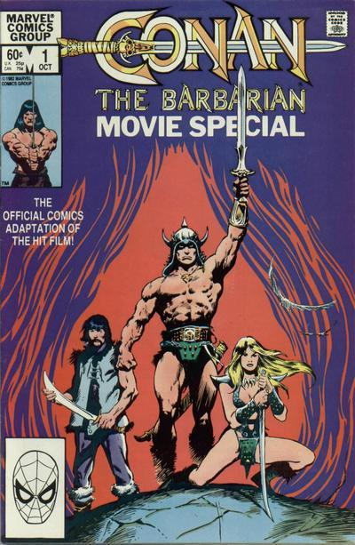 The comic adaptation of 'Conan the Barbarian'