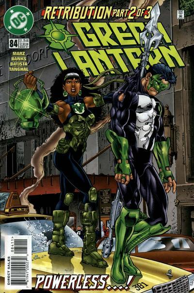 Her first battle with Kyle Rayner