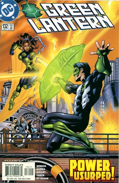 Yrra fights Kyle again, this time using a yellow power ring