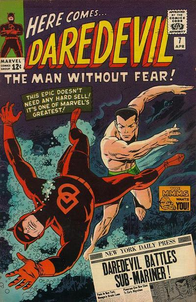 First appearance of Daredevil's red outfit.