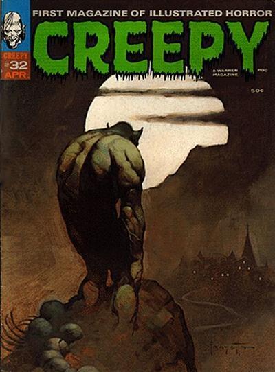 Creepy #32 The Ellison story was written around this Frazetta cover
