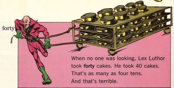 Surely Lex could create an invention that could easily make 40 cakes...