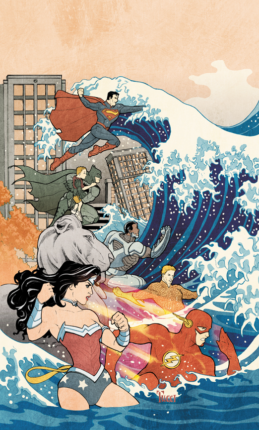 JUSTICE LEAGUE #15, variant cover