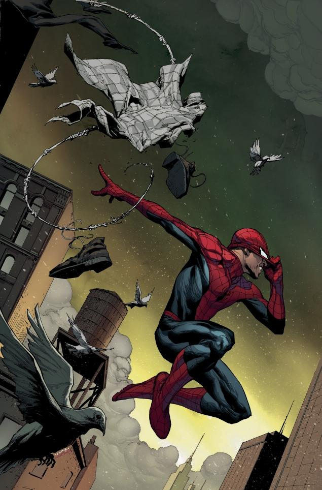 AMAZING SPIDER-MAN #1 alternate cover by Jerome Opena.