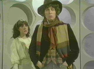 Sarah and the Fourth Doctor.
