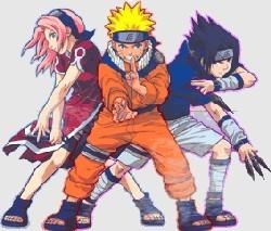 Sakura, Naruto, and Sasuke - Team 7