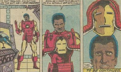 James Rhodes becoming Iron man