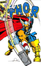 Beta Ray Bill proves worthy of Mjolnir.