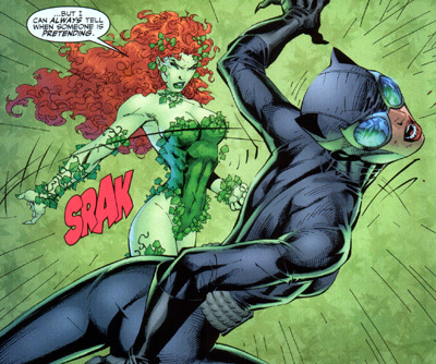 Ivy fighting Catwoman