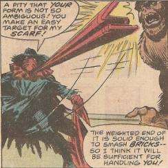 Watch out for that weighted scarf!!