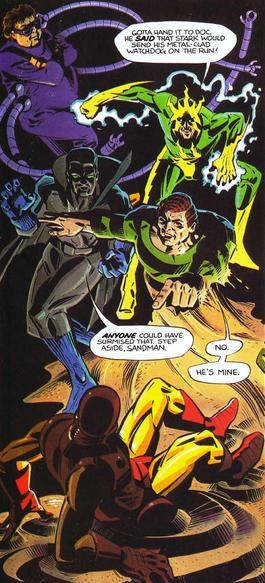 Grey Gargoyle teams up with Dr. Octopus, Electro & the Sandman.