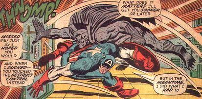 Grey Gargoyle vs Captain America.