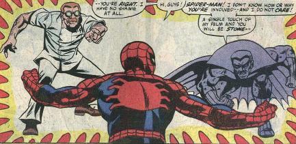 Jonas Harrow & the Grey Gargoyle come after Spider Man.