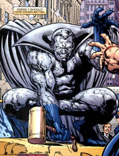 Grey Gargoyle with Thor Girl's hammer.