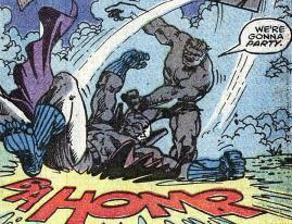 Gray Hulk vs Grey Gargoyle during the Acts of Vengeance.
