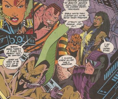 The Intruders- Sandman, Fin, Man-Eater, Lightbright & Paladin.