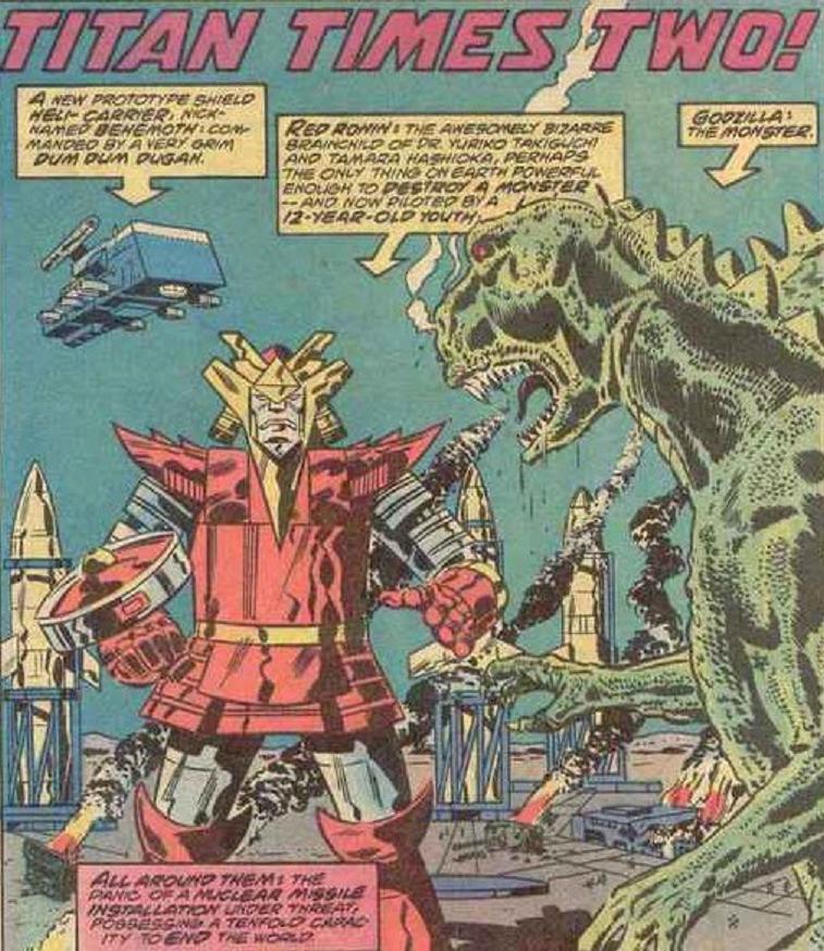 Red Ronin vs Godzilla.