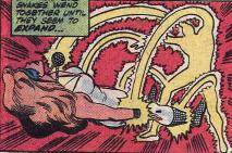 Lighmaster resurrects himself by absorbing Dazzler's powers.