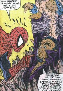Spidey shakes down Marsdale.