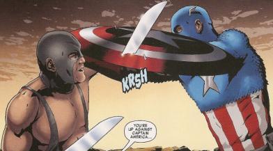 Razorfist vs Captain America.