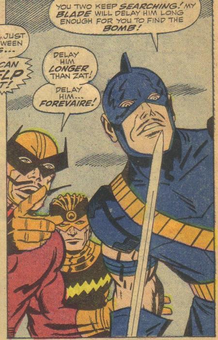First Batroc's Brigade: Batroc, Swordsman & Living Laser.