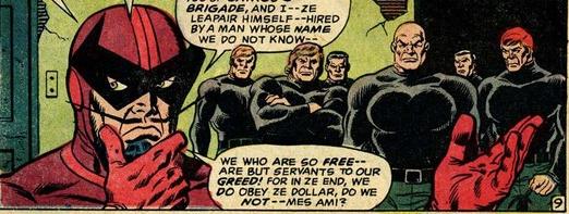 3rd Batroc's Brigade: Batroc & hired thugs.