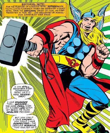 Thor's original costume.