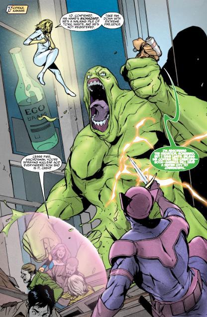 Biohazard vs the Thunderbolts.