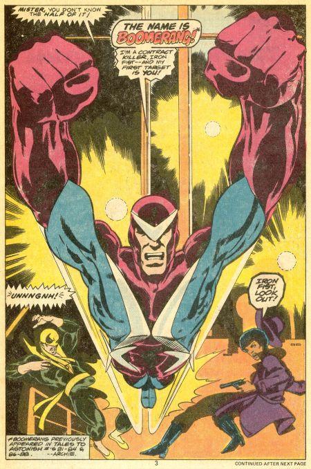 The contract killer- Boomerang!