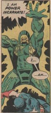 The Alchemoid vs Captain America.