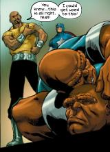 Luke Cage takes down the Brawl Brothers.