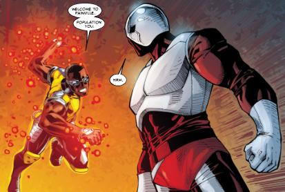 The new Power Man vs the Looter.