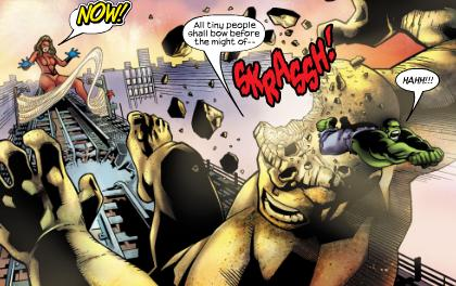 It The Living Colossus gets the slingshot special from the Avengers.