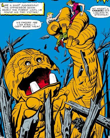 Goom captures two earthlings.
