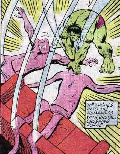 Hulk smashes The Humanoids