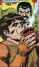 Gibbon takes a potion from Kraven which makes him more bestial.