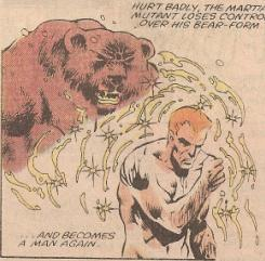 Ursa Major transforming back into human form.