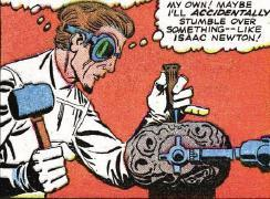Fester experiments with the meteor.